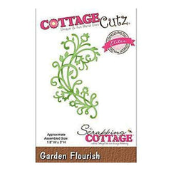 Cottagecutz Elites Die 1.8X3 Garden Flourish