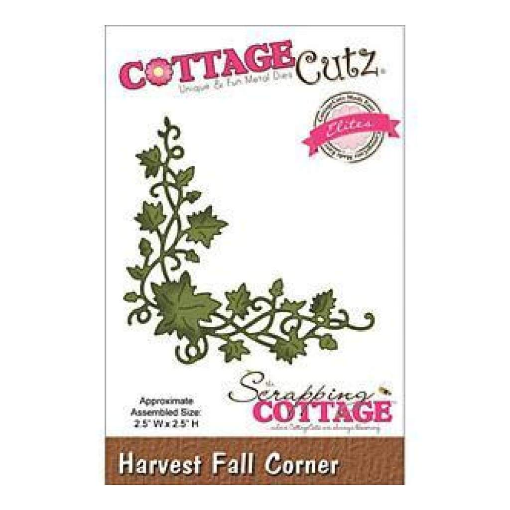 Cottagecutz  - Elites Die - 2.5X2.5 Inches Harvest Fall Corner