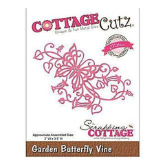 Cottagecutz Elites Die 3X3.5 Garden Butterfly Vine