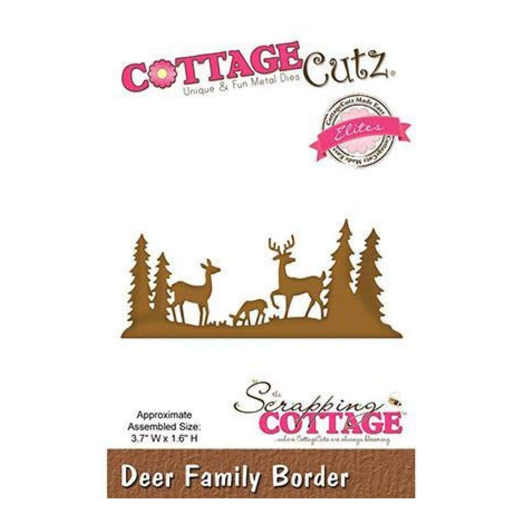 Cottagecutz Elites Die Deer Family Border 3.7 Inch X1.6 Inch