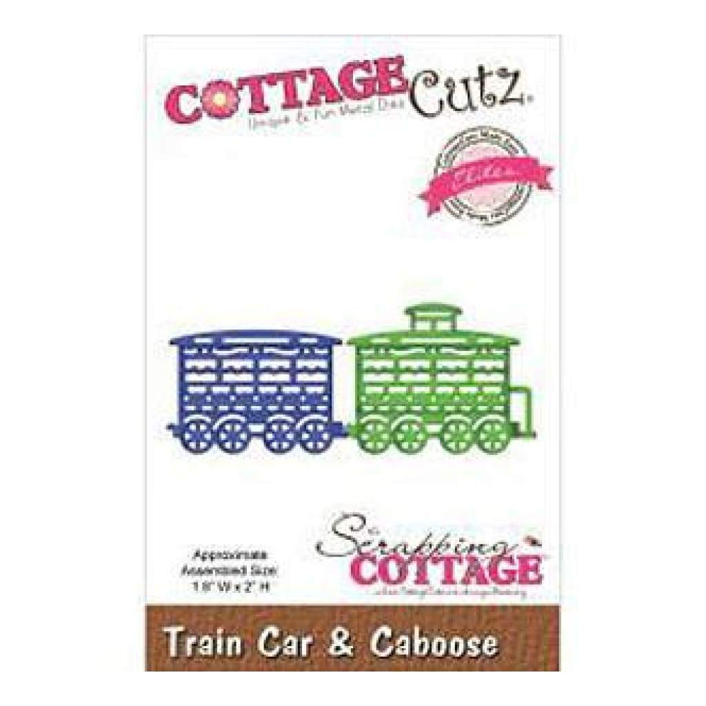 Cottagecutz Elites Die Train Car & Caboose 1.8Inch X2inch