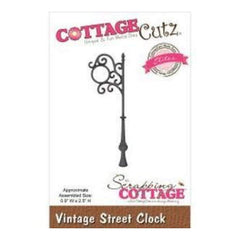 Cottagecutz Elites Die Vintage Street Clock .9In. X2.5In.