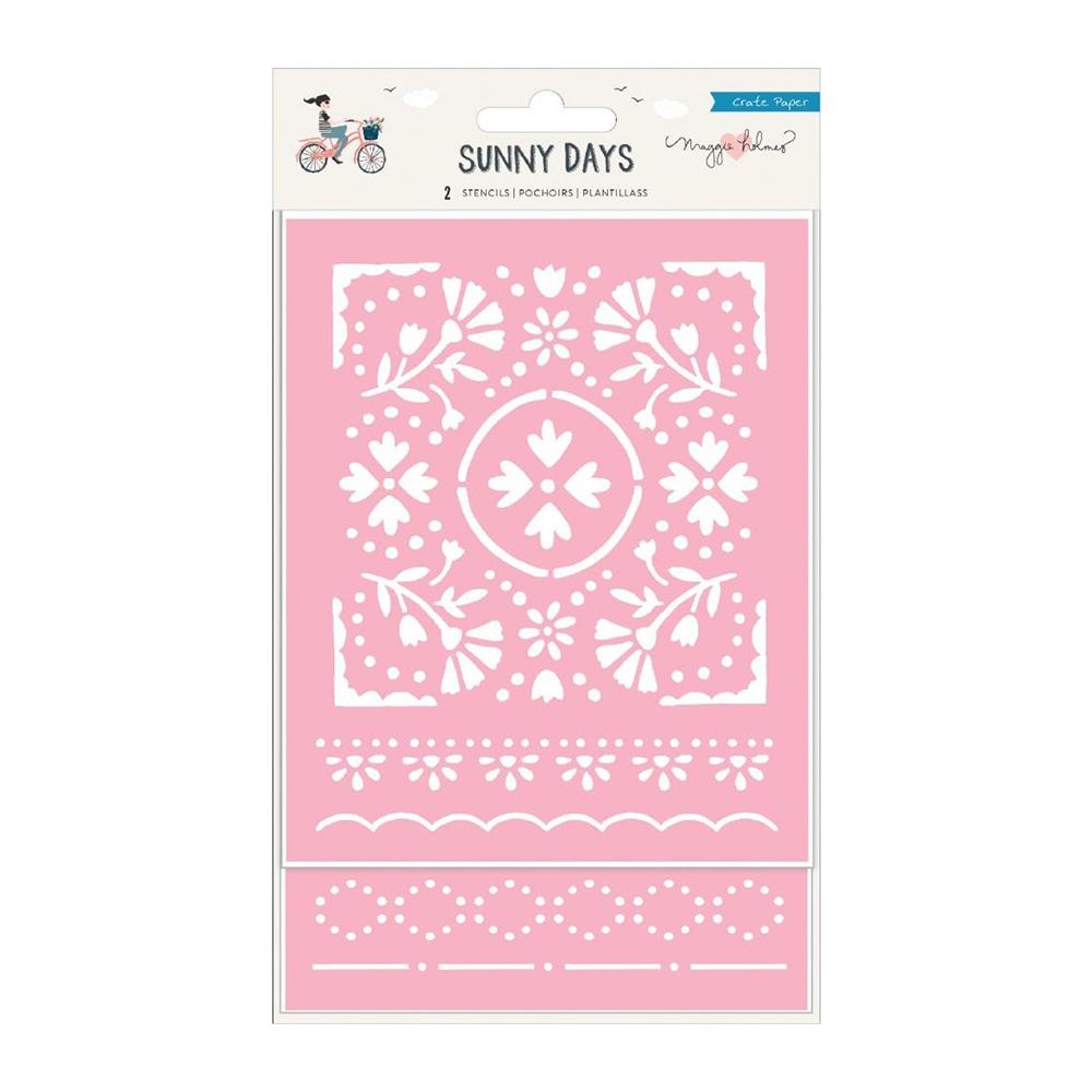 Crate Paper - Maggie Holmes Sunny Days Stencils 2 per pack