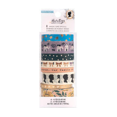 Crate Paper - Maggie Holmes Heritage Collection - Washi Tape Set with Gold Foil Accents