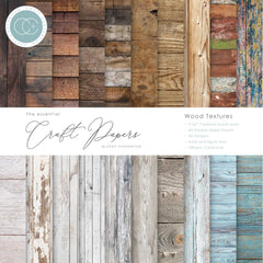 Craft Consortium Double-Sided Paper Pad 6 inchX6 inch 40 pack - Wood Textures, 20 Designs