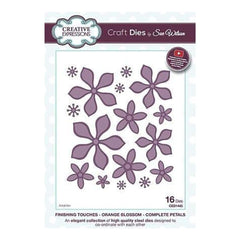 Craft Dies By Sue Wilson - Finishing Touches Collection - Orange Blossom - Complete Petals