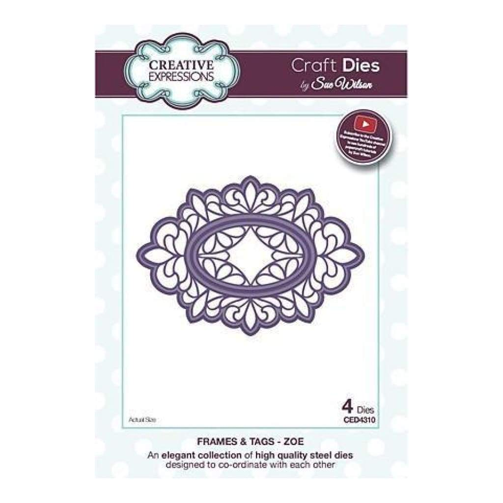 Craft Dies By Sue Wilson - Frames & Tags Collection - Zoe