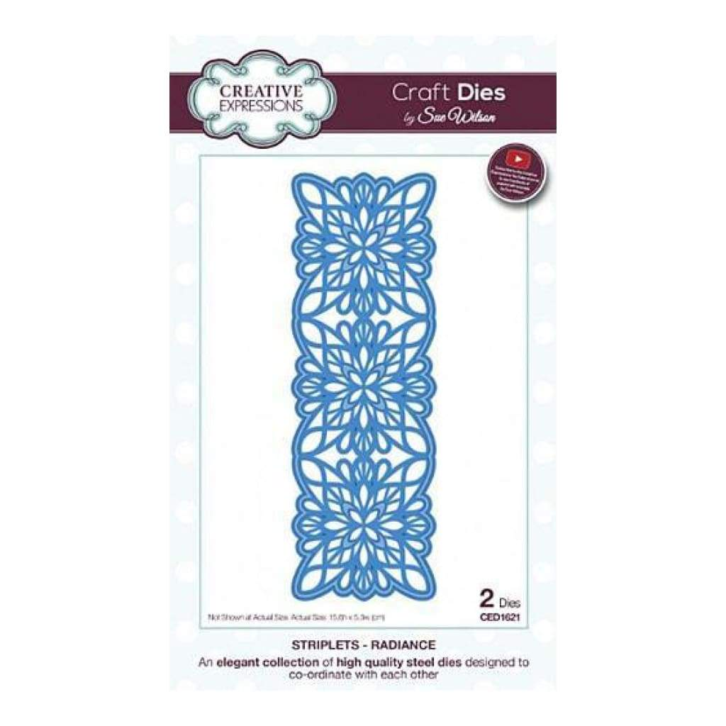 Craft Dies By Sue Wilson - Striplet Collection - Radiance