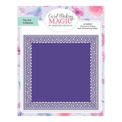 Craft Essentials - The Christina Griffiths Card Making Magic 6x6inch Collection - Geometric Frame 6x6 embossing folder