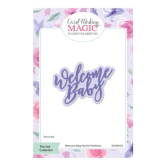 Craft Essentials - The Christina Griffiths Card Making Magic 6x6inch Collection - Welcome Baby die set