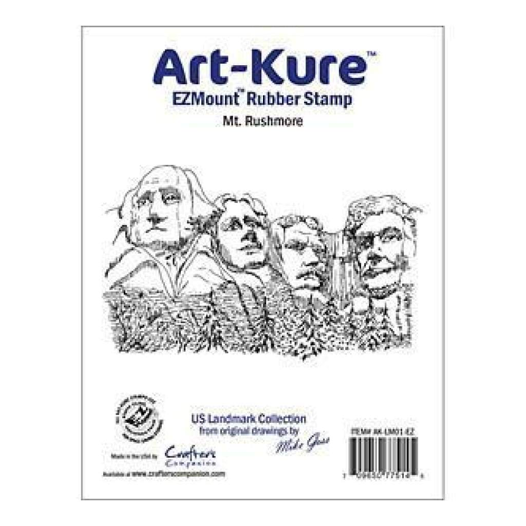 Crafters Companion -  Art Kure - Mt. Rushmore Landmarks Ezmount Stamp 4In 2.5In