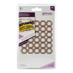 Crafters Companion - Gemini Multi-Media Decorative Panel Die Honeycomb Hexagon Panel 3.9 inch X3.9 inch