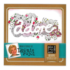 Crafters Companion - Leonie Pujol Masks And Stencils Set Adore