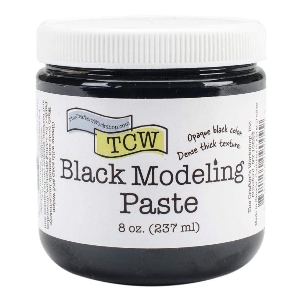 Crafters Workshop Modeling Paste 8oz Black
