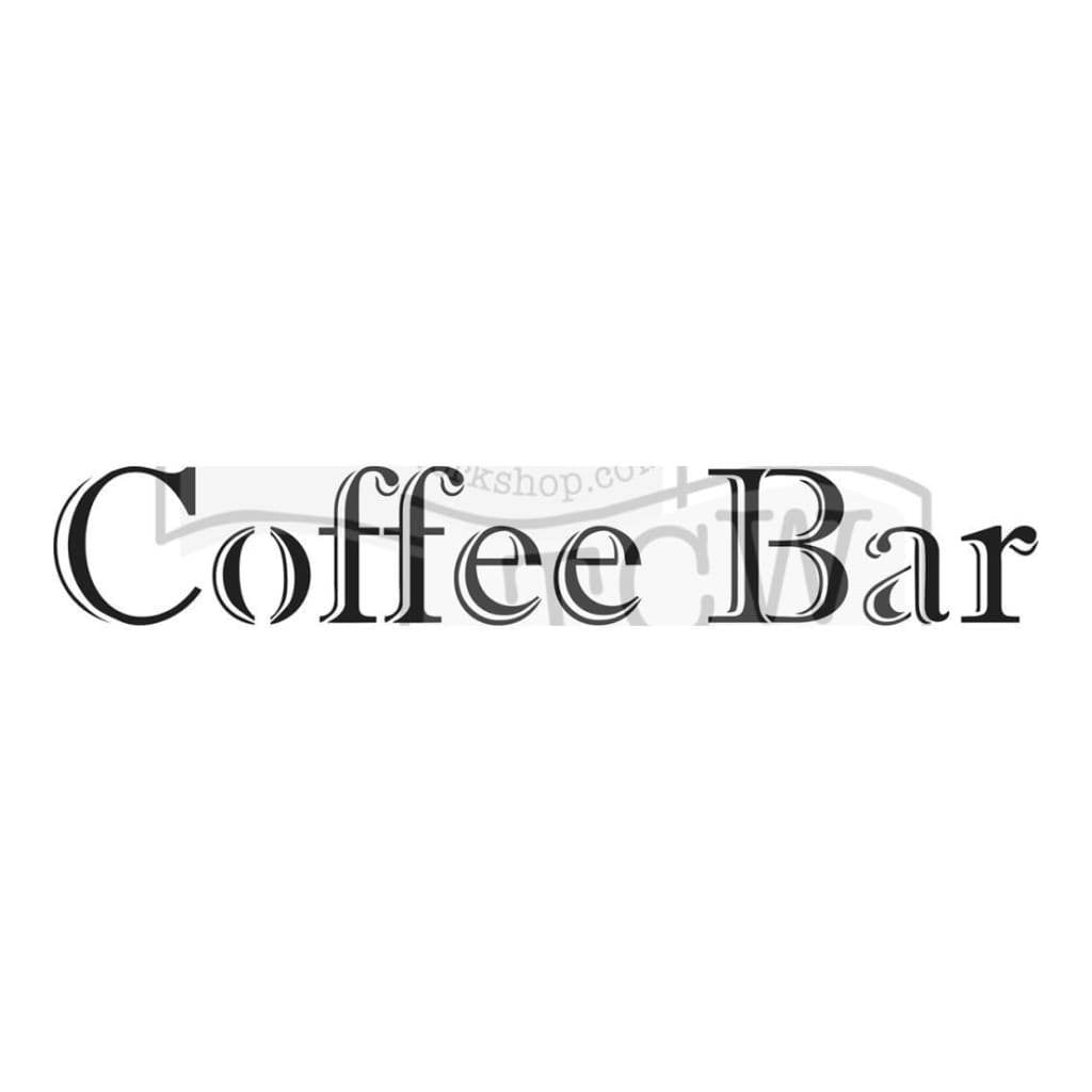 Crafters Workshop Rustic Sign Template 16.5inch X6inch - Coffee Bar