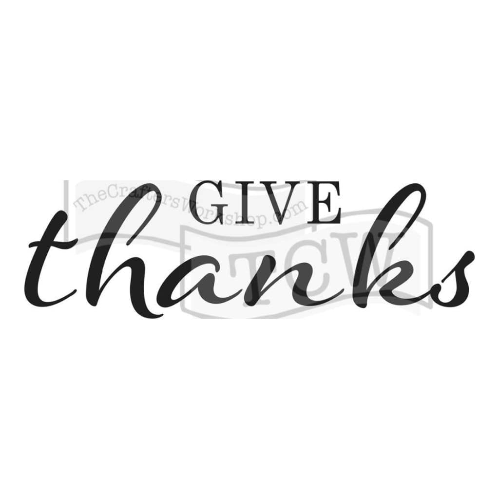 Crafters Workshop Rustic Sign Template 16.5inch X6inch - Give Thanks