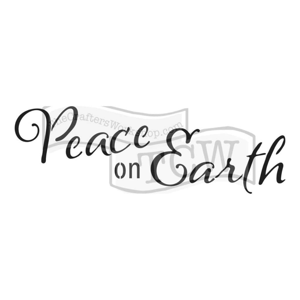 Crafters Workshop Rustic Sign Template 16.5inch X6inch - Peace On Earth