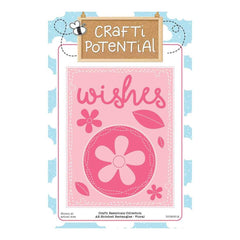 Crafti Potential - A2 Stitched Rectangles - Floral