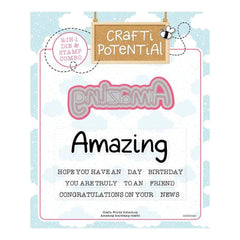 Crafti Potential Crafti Words Collection - Amazing Die & Stamp Set