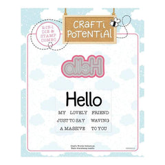 Crafti Potential Crafti Words Collection - Hello Die & Stamp Set