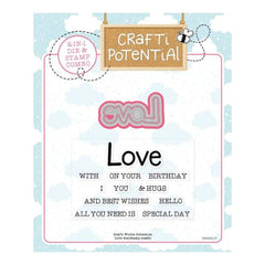 Crafti Potential Crafti Words Collection - Love - die and stamp combo
