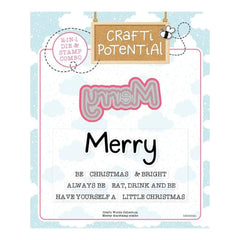 Crafti Potential Crafti Words Collection - Merry Die & Stamp Set