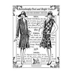 Crafty Individuals Unmounted Rubber Stamp 4.75 Inch X7 Inch   Pack  Bright Voile Ladies