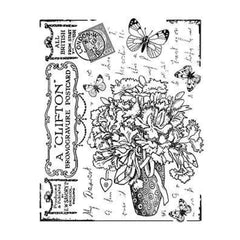 Crafty Individuals Unmounted Rubber Stamp 4.75 Inch X7 Inch   Pack  Butterfly Bouquet