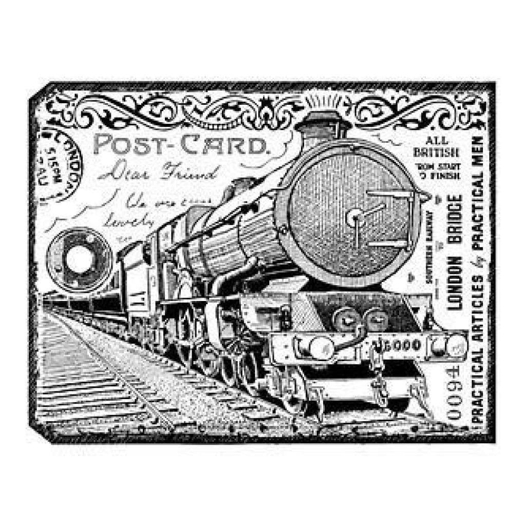 Crafty Individuals Unmounted Rubber Stamp 4.75 Inch X7 Inch   Pack  Chunky Steam Train Tag