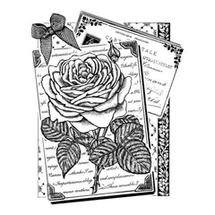 Crafty Individuals Unmounted Rubber Stamp 4.75 inch X7 inch pack Rambling Rose