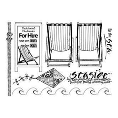 Crafty Individuals Unmounted Rubber Stamp 4.75 Inch X7 Inch Pkg By The Sea