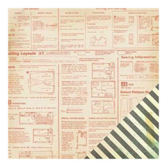 Crate Paper - Close Knit - Mended 12X12 D/Sided Paper   (Single Sheet)