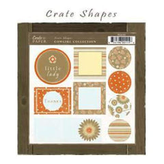 Crate Paper - Cowgirl Shapes Diecuts