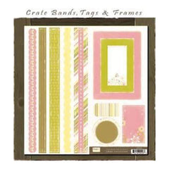 Crate Paper - Twirl Crate Bands- Tags & Frames
