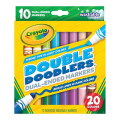 Crayola Dual-Ended Washable Double Doodlers Markers 10 pack