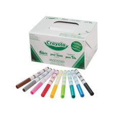 Crayola Fabric Marker Classpack, Ten Assorted Colors