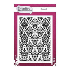 Creative Dies - Texture - Embossing Folder - Damask - 5 x 7 inch