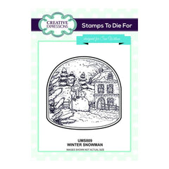Creative Expressions Cling Stamps - Winter Snowman
