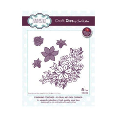 Creative Expressions - Craft Dies By Sue Wilson - Finishing Touches Floral Melody Corner Die