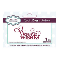 Creative Expressions Dies - Mini Expressions Collection Warmest Wishes