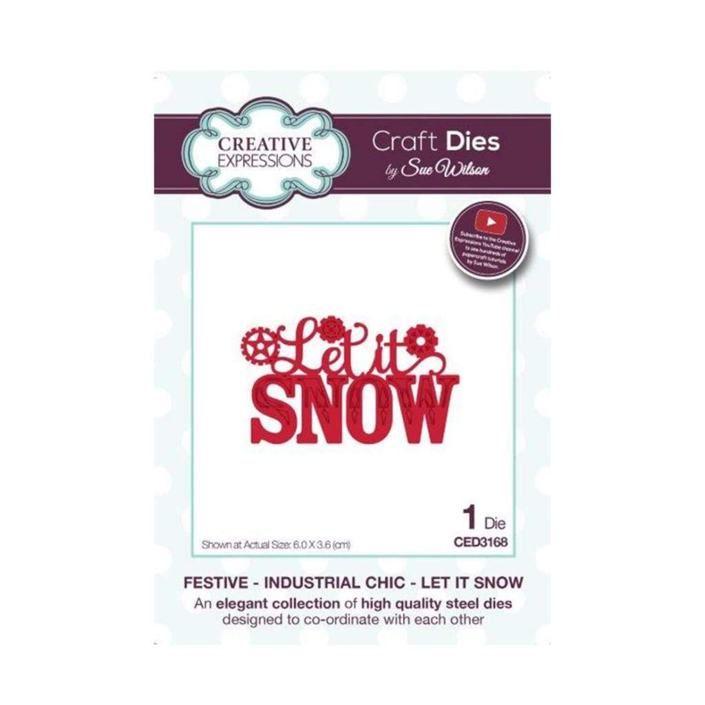 Creative Expressions - Festive Industrial Chic Let It Snow Craft Die