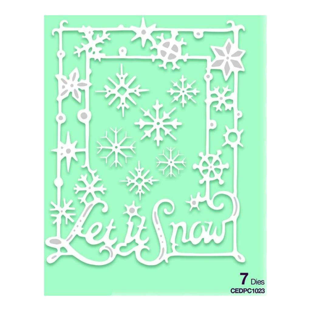 Creative Expressions Lisa Horton - Paper Cuts Collection Let It Snow Frame Craft Die
