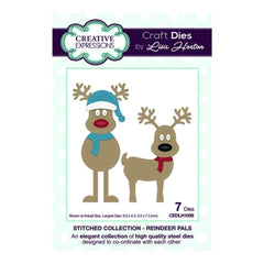 Creative Expressions Lisa Horton - Stitched Collection Reindeer Pals - die set