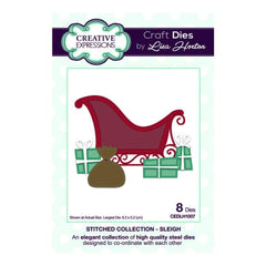 Creative Expressions Lisa Horton - Stitched Collection Sleigh - die set