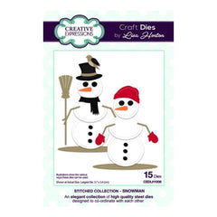 Creative Expressions Lisa Horton - Stitched Collection Snowman - die set