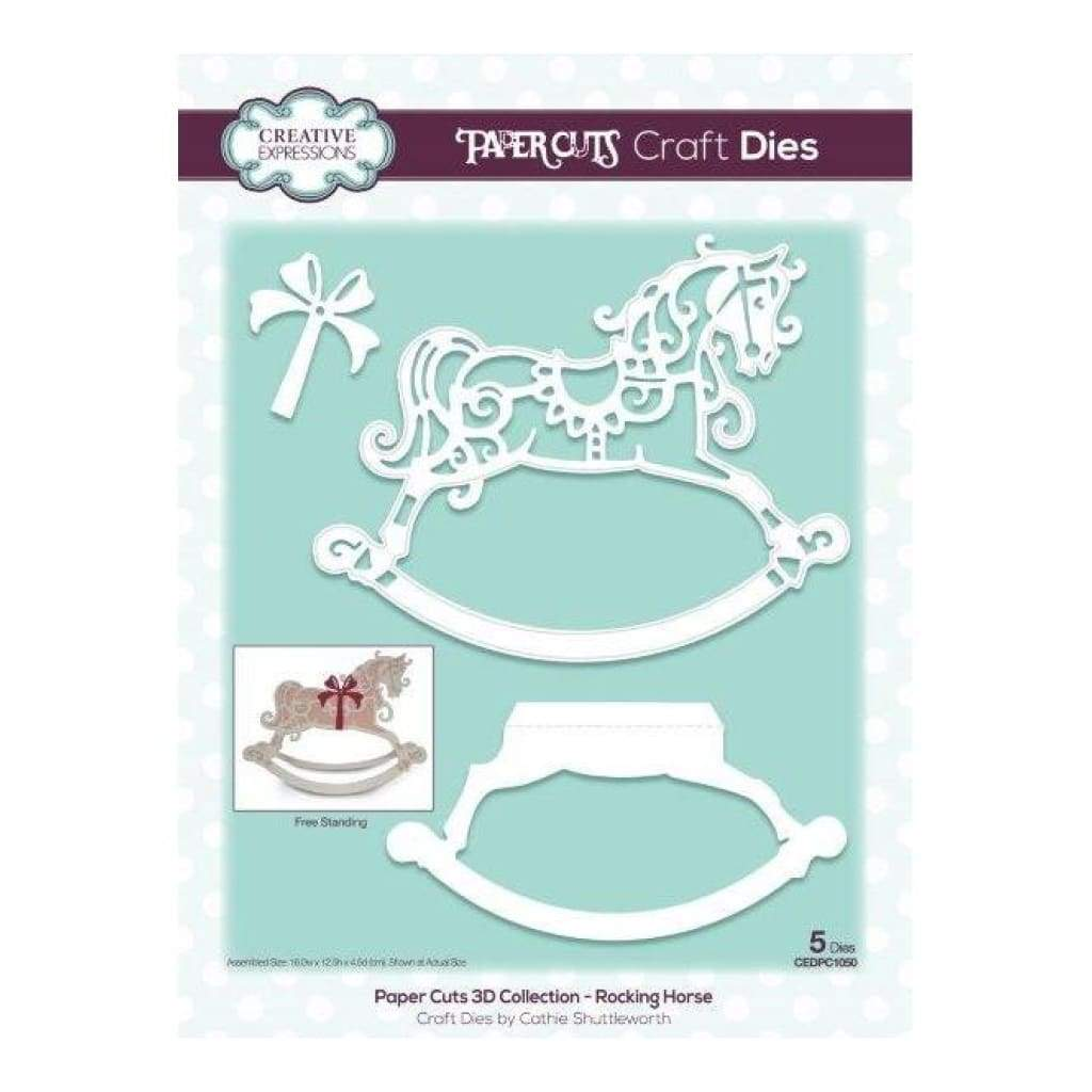 Creative Expressions - Paper Cuts 3D Collection Rocking Horse die set