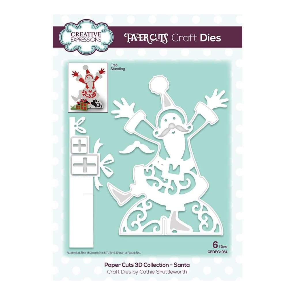 Creative Expressions - Paper Cuts 3D Collection Santa die set