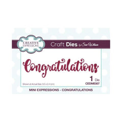 Creative Expressions - Sue Wilson Designs - Die - Mini Expressions - Congratulations