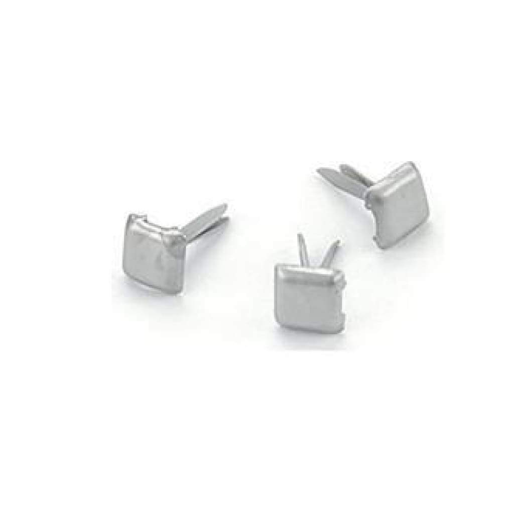 Creative Impressions - Mini Metal Paper Fasteners 3Mm 100 Pack  Square - Pewter