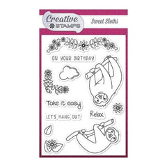 Creative Stamps A6 Stamp Set - Sweet Sloths - Set of 12